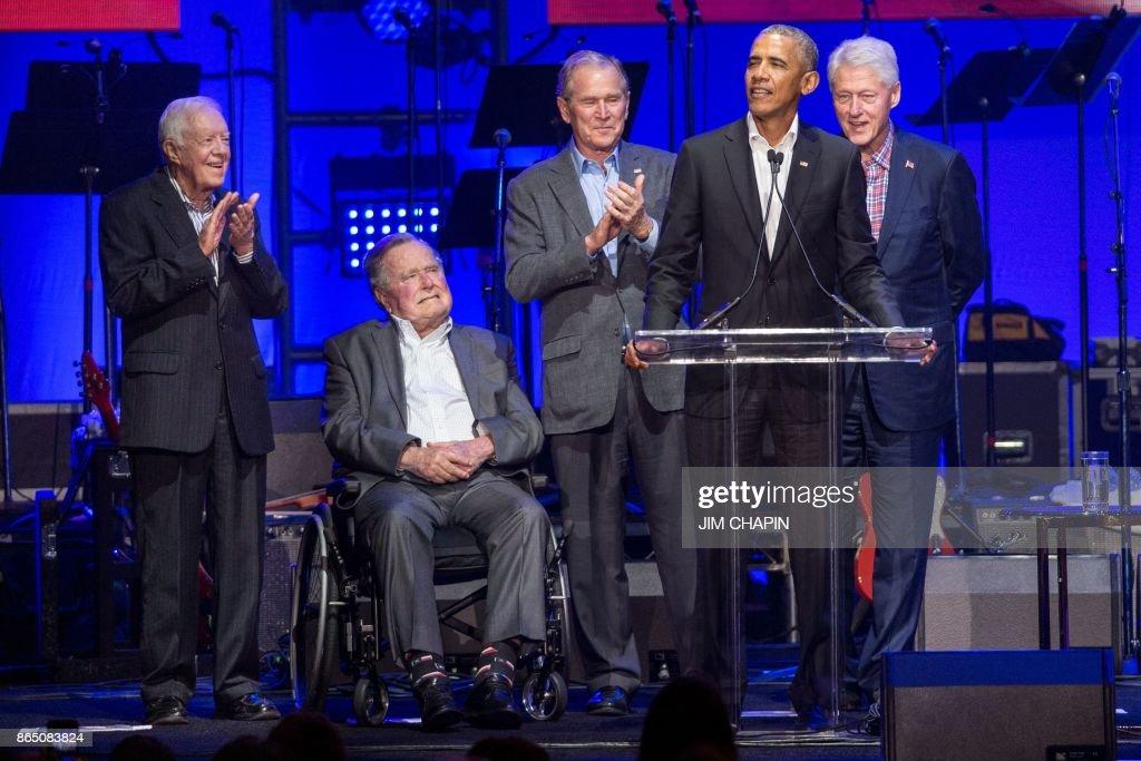 US-WEATHER-HURRICANE-POLITICS-MUSIC : Nachrichtenfoto