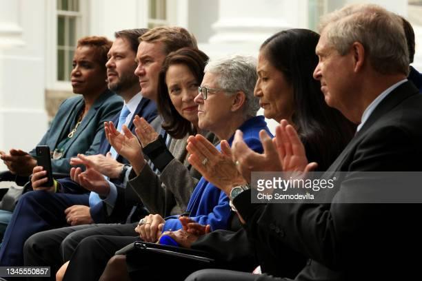 Former U.S. Rep. Donna Edwards , Rep. Ruben Gallego , Sen. Michael Bennett , Sen. Maria Cantwell , White House National Climate Advisor Gina...