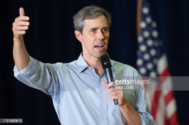 Former US Representative and Democratic Presidential hopeful Beto O'Rourke speaks during a town hall meeting hosted by the American Federation of...
