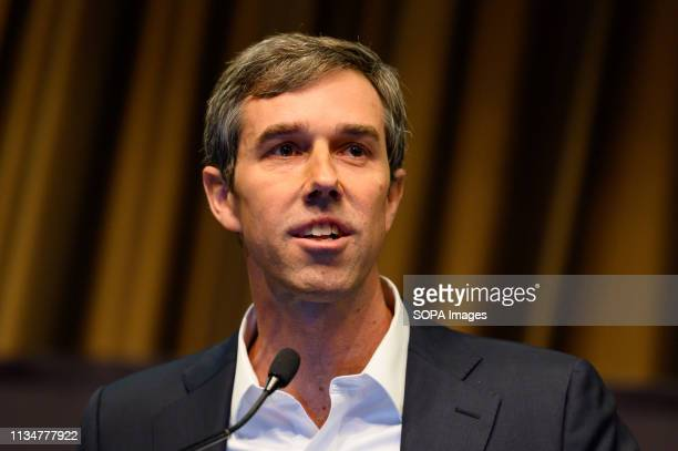 Former US Representative Beto O'Rourke at the National Action Network convention in New York City