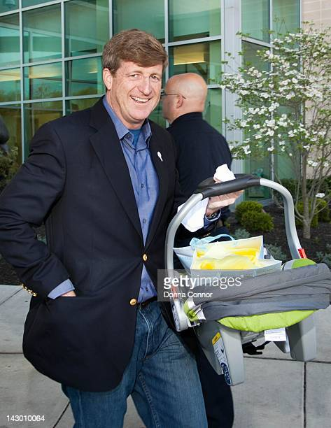 Former US Representative Patrick Kennedy leave the the Roger B Hansen Center for Childbirth after his newborn son Owen Pattrick born April 15 is born...
