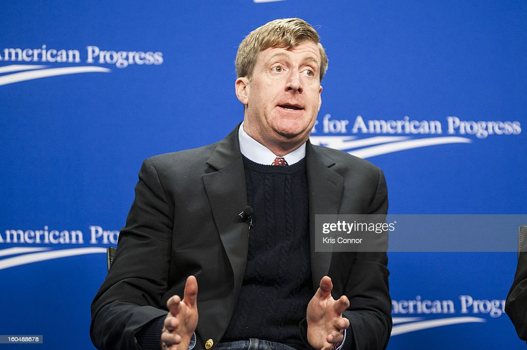 Former U.S. Representative Patrick Kennedy(D-RI) speaks during the 'Silver Lining Playbook' mental health progress press conference at Center For American Progress on February 1, 2013 in Washington, DC.