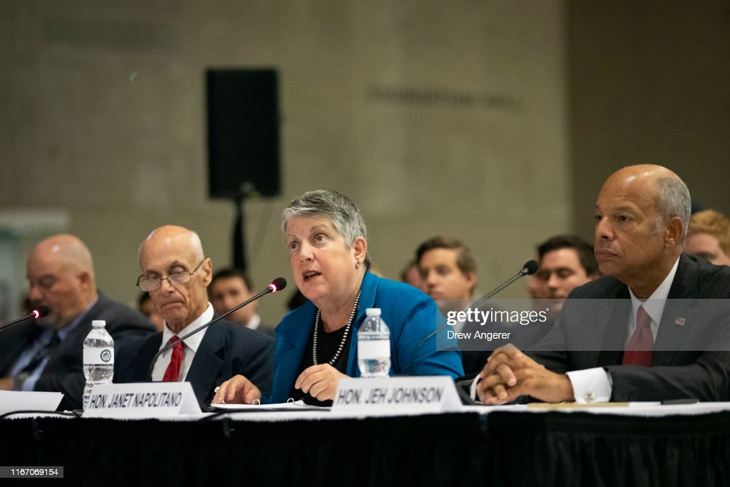 Former DHS Secretaries Testify On State Of Homeland Security At Special Senate Hearing Held At 9/11 Museum : News Photo