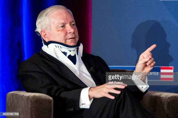 Former US Secretary of Defense and 2011 Liberty Medal recipient Robert M Gates discusses his new book 'Duty Memoirs Of A Secretary At War' at the...