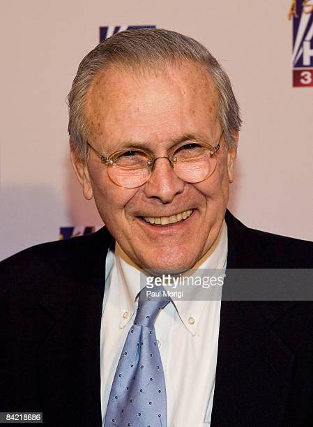 Former U.S. Secretary of Defense Donald Rumsfeld attends salute to Brit Hume at Cafe Milano on January 8, 2009 in Washington, DC.