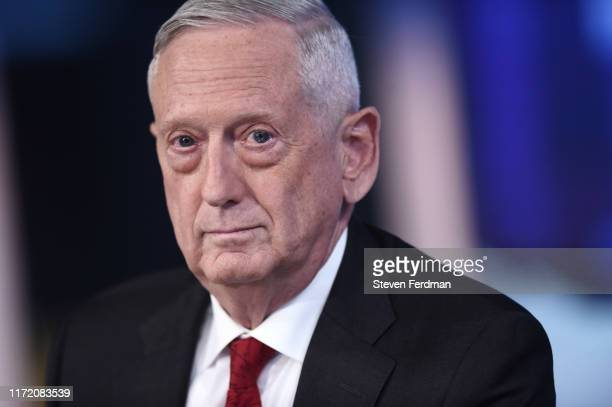 """Former U.S. Secretary of Defense James Mattis visits FOX News Channel's """"The Story with Martha MacCallum"""" on September 03, 2019 in New York City."""