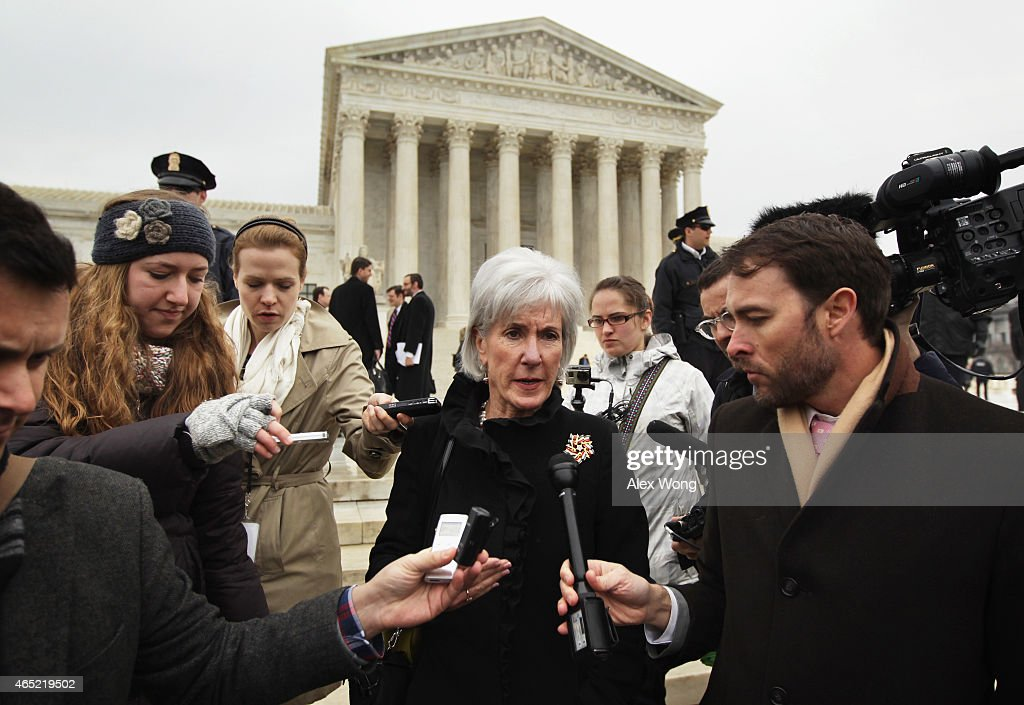 Supreme Court Hears Case Challenging Obama's Affordable Health Care Act : News Photo