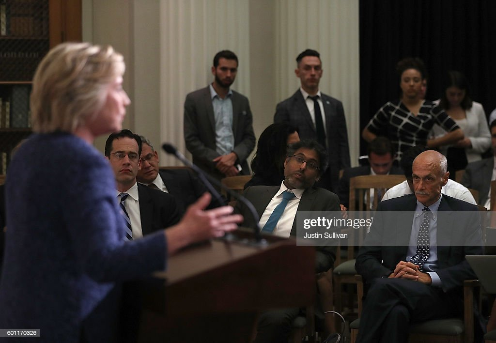 Presidential Candidate Hillary Clinton Attends National Security Working Session