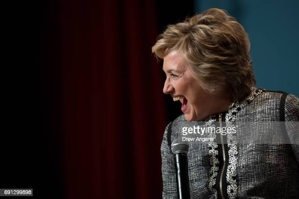 Former US Secretary of State and 2016 presidential candidate Hillary Clinton laughs while speaking during BookExpo 2017 at the Jacob K Javits...