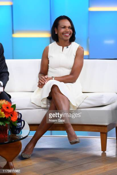 Former US Secretary of State Condoleeza Rice visits FOX Friends at Fox News Channel Studios on September 10 2019 in New York City