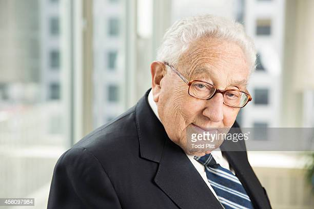 Former US Secretary of State Henry Kissinger is photographed for USA Today on September 8 2014 in New York City PUBLISHED IMAGE
