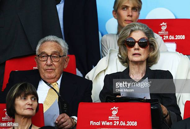Former U.S. Secretary of State Henry Kissinger prior to the UEFA EURO 2008 Final match between Germany and Spain at Ernst Happel Stadion on June 29,...