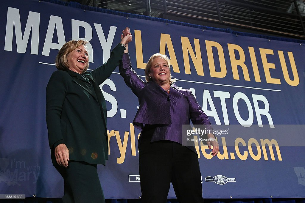 Hillary Clinton Campaigns With Sen. Landrieu In New Orleans