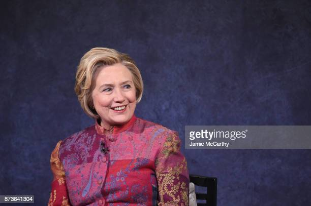 Former US Secretary of State Hillary Rodham Clinton speaks onstage during The Child Mind Institute Summit The State of Child Adolescent Mental Health...