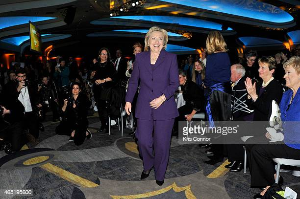 Former US Secretary of State Hilllary Clinton attends EMILY's List 30th Anniversary Gala at Washington Hilton on March 3 2015 in Washington DC