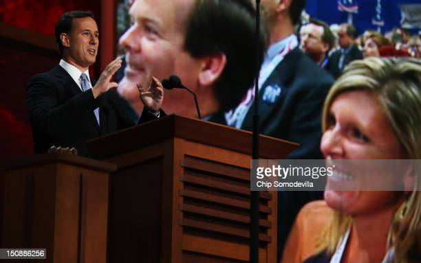 Former U.S. Sen. Rick Santorum speaks during the Republican National Convention at the Tampa Bay Times Forum on August 28, 2012 in Tampa, Florida....
