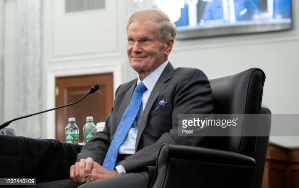Former US Senator Bill Nelson, nominee to be administrator of NASA, attends a Senate Committee on Commerce, Science, and Transportation confirmation...
