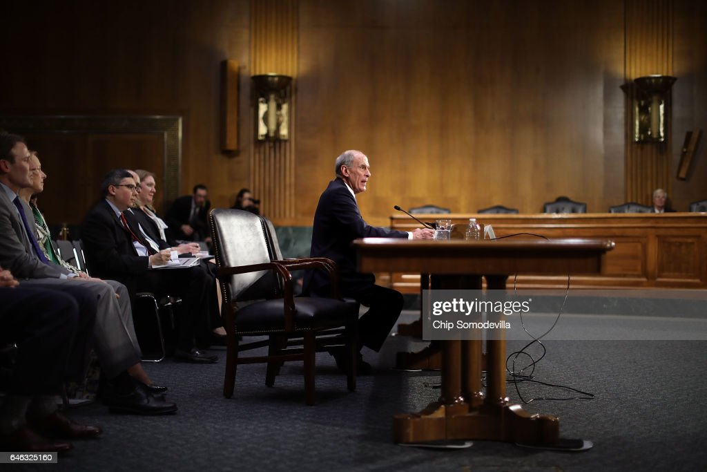 Former U.S. Senator Dan Coats testifies during his confirmation hearing before the Senate Select Intelligence Committee to be the next Director of National Intelligence in the Dirksen Senate Office Building on Capitol Hill February 28, 2017 in Washington, DC. A former ambassador to Germany and a two-time Republican senator from Indiana, Coats is President Donald Trump's choice to be AmericaÕs top intelligence official.