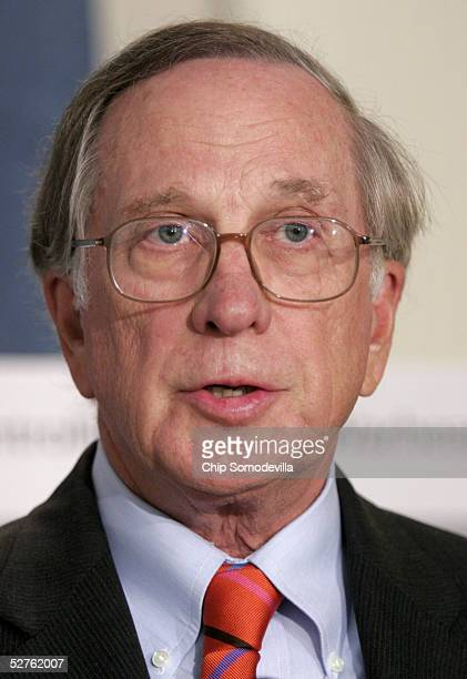 Former U.S. Senator Sam Nunn speaks about a report evaluating the efforts of the U.S. And other governments to keep terrorists and other hostile...
