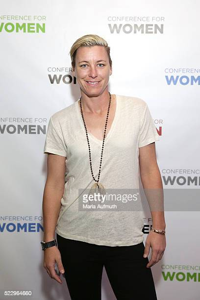 Former US Soccer forward Abby Wambach stands for a photo at the Watermark Conference For Women 2016 Silicon Valley at the San Jose Convention Center...
