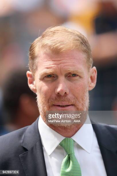 Former US Soccer international Alexi Lalas now working for Fox Sports at the MLS match between Los Angeles FC and Los Angeles Galaxy at StubHub...
