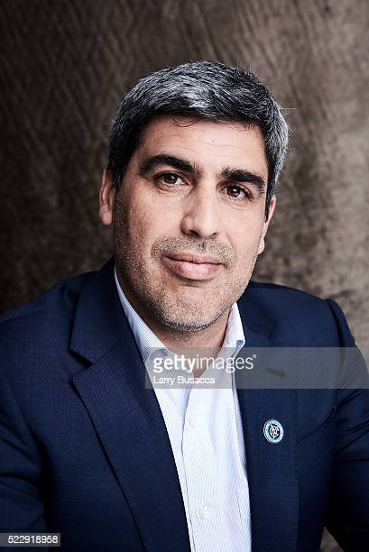 Former US soccer team captain New York City Football Club sporting director and documentary subject Claudio Reyna from 'Win' poses at the Tribeca...