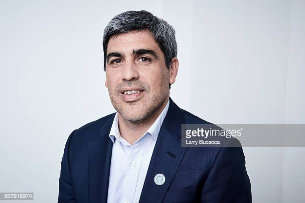 Former US soccer team captain New York City Football Club sporting director and documentary subject Claudio Reyna from Win poses at the Tribeca Film...