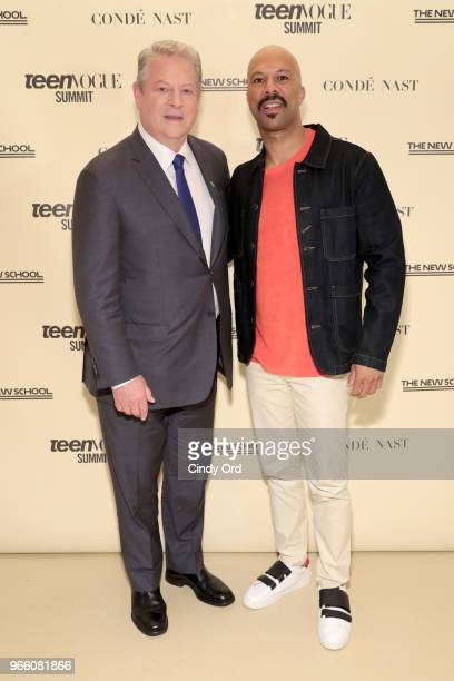 Former US Vice President Al Gore and Common attend Teen Vogue Summit 2018: #TurnUp - Day 2 at The New School on June 2, 2018 in New York City.