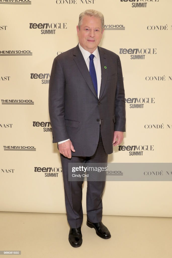 Former US Vice President Al Gore attends Teen Vogue Summit 2018: #TurnUp - Day 2 at The New School on June 2, 2018 in New York City.