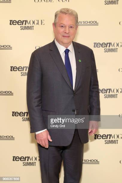 Former US Vice President Al Gore attends Teen Vogue Summit 2018 #TurnUp Day 2 at The New School on June 2 2018 in New York City