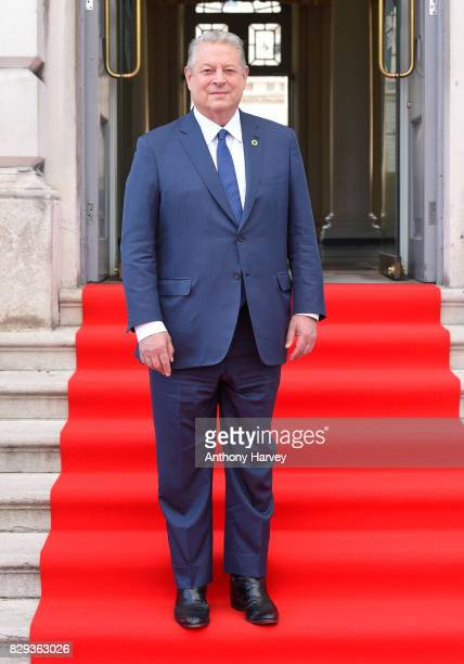 Former US Vice President Al Gore attends the UK Premiere of An Inconvenient Sequel Truth To Power at Film4 Summer Screen at Somerset House on August...