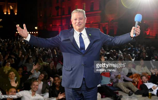 Former US Vice President Al Gore on stage as he introduces the UK Premiere of 'An Inconvenient Sequel Truth To Power' at Film4 Summer Screen at...