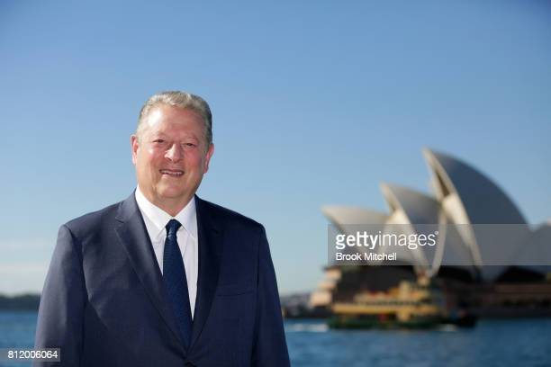 Former US Vice President Al Gore poses for a photo ahead of the release of 'An Inconvenient Sequel Truth to Power' on July 10 2017 in Sydney Australia