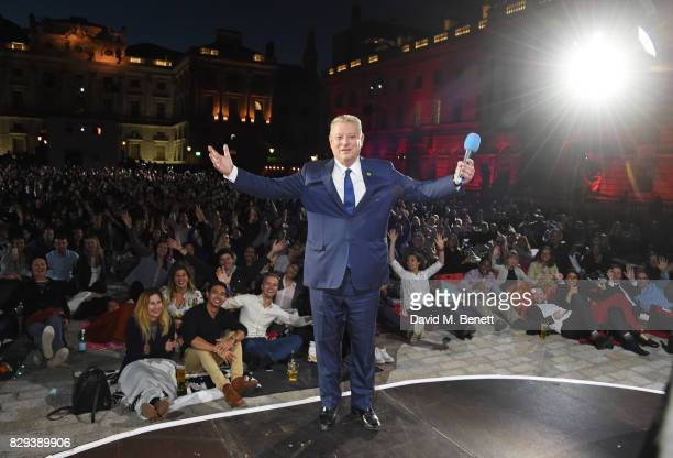 Former US Vice President Al Gore poses on stage at the Film4 Summer Screen Opening Screening of An Inconvenient Sequel Truth To Power at Somerset...