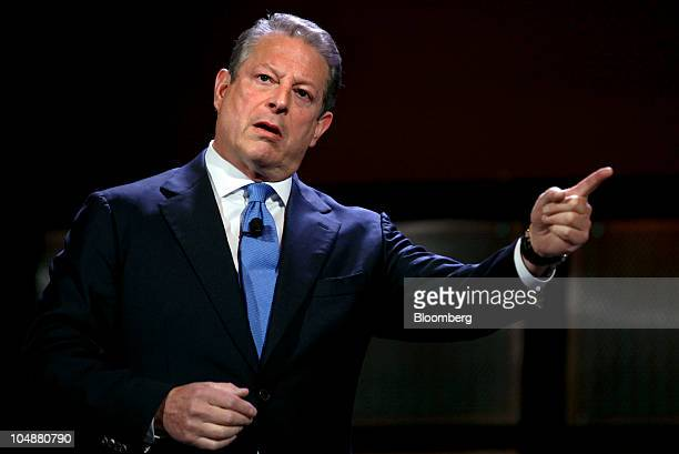 Former US Vice President Al Gore speaks at the World Business Forum in New York US on Wednesday Oct 6 2010 Gore discussed mitigating climate change...