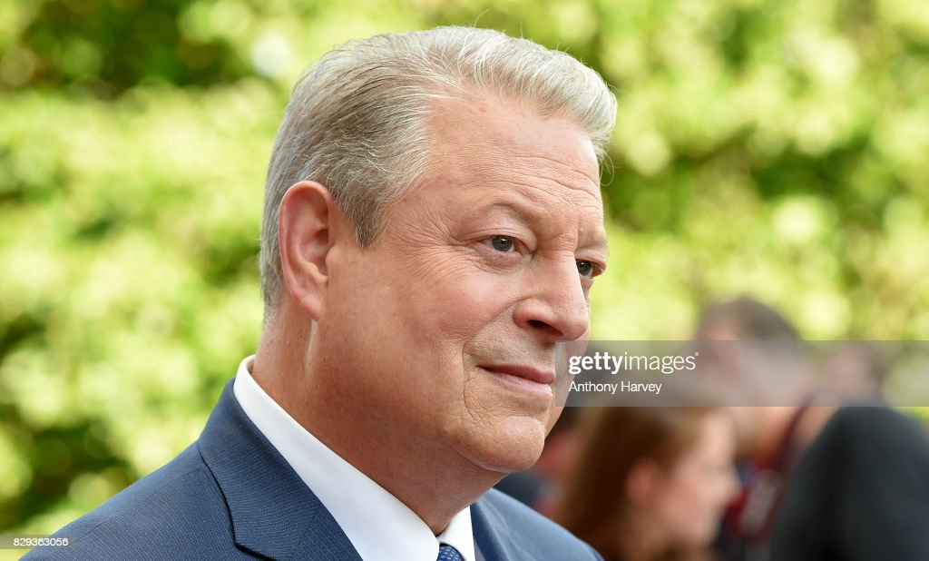 Former US Vice President Al Gore speaks to the media as he attends the UK Premiere of 'An Inconvenient Sequel: Truth To Power' at Film4 Summer Screen at Somerset House on August 10, 2017 in London, England.