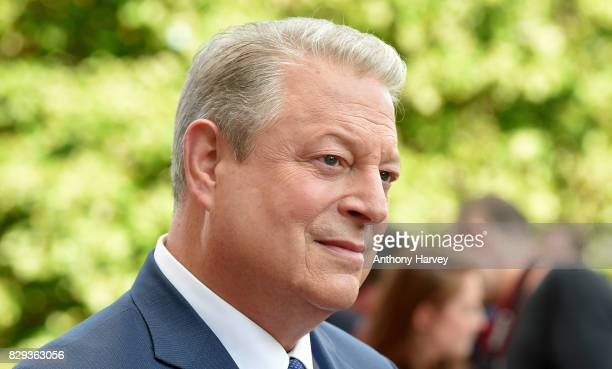 Former US Vice President Al Gore speaks to the media as he attends the UK Premiere of 'An Inconvenient Sequel Truth To Power' at Film4 Summer Screen...