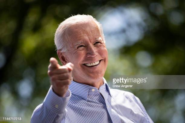 Former US Vice President and Democratic presidential candidate Joe Biden speaks during a campaign kickoff rally May 18 2019 in Philadelphia...