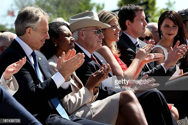 Former US Vice President Dick Cheney is acknowledged as Former British Prime Minister Tony Blair former US Secretary of State Condoleezza Rice George...
