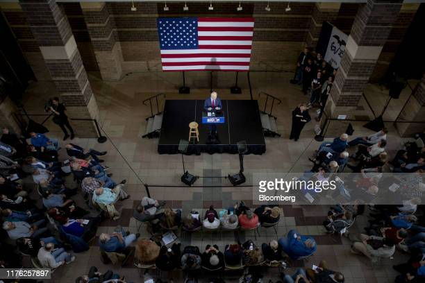 Former US Vice President Joe Biden 2020 Democratic presidential candidate speaks during a campaign event in Davenport Iowa US on Wednesday Oct 16...