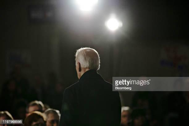 Former U.S. Vice President Joe Biden, 2020 Democratic presidential candidate, speaks during a campaign event in Waterloo, Iowa, U.S., on Saturday,...
