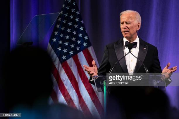 Former US Vice President Joe Biden delivers remarks during the National Minority Quality Forum on April 9 2019 in Washington DC Biden was awarded the...