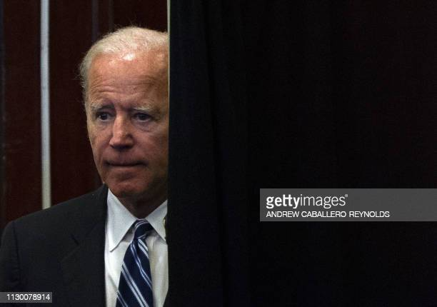 Former US Vice President Joe Biden speaks at the International Association of Fire Fighters conference in Washington DC on March 12 2019