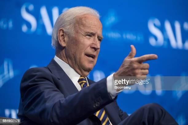 Former US Vice President Joe Biden speaks at the Skybridge Alternatives conference in Las Vegas Nevada US on Thursday May 18 2017 The SALT Conference...