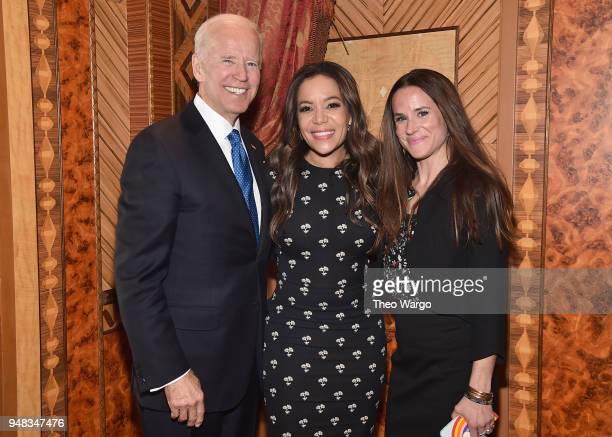 Former US Vice President Joe Biden TV Personality Sunny Hostin and Ashley Biden attend the Biden Courage Awards Presented by It's On Us at the...