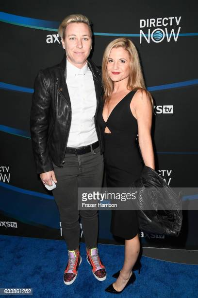 Former US Women's Soccer player Abby Wambach and Glennon Doyle Melton attend the 2017 DIRECTV NOW Super Saturday Night Concert at Club Nomadic on...