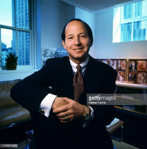 Former Vanity Fair publisher Ron Galotti poses for a portrait in his new office at Esquire Magazine on March 1 1994 in New York City New York