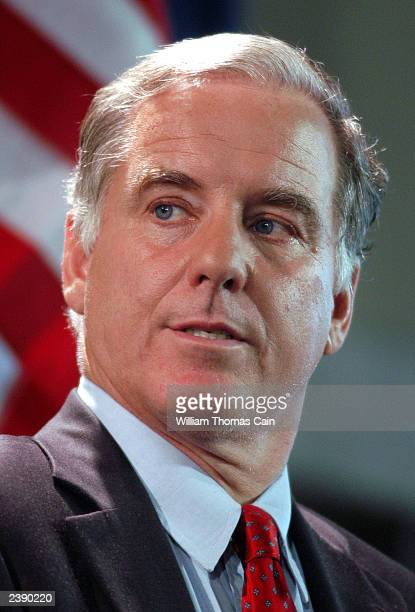 Former Vermont Gov. Howard Dean participates in a town hall meeting of Democratic presidential candidates at the National Constitution Center August...