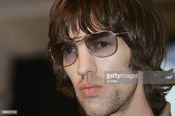 Former Verve singer Richard Ashcroft meets fans and signs copies of his latest album 'Keys To The World' released today at HMV Oxford Street on...