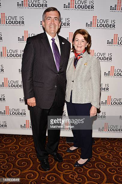 Former Vice Chief of Staff US Army General Pete Chiarelli and his wife Beth Chiarelli attend the 11th Annual Jed Foundation Gala at Gotham Hall on...
